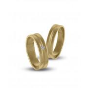 Βέρες με Διαμάντι Χρυσός Κ14 - 204326