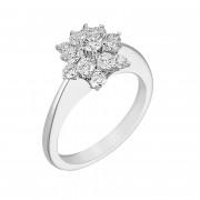 Δαχτυλίδι με Διαμάντια Λευκόχρυσος Κ18 - 0279R