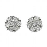 Σκουλαρίκια με Διαμάντια Λευκόχρυσος Κ18 - 04358