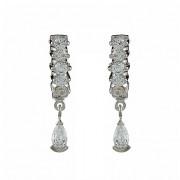 Σκουλαρίκια με Ζιργκόν Δίχρωμα Κ14 - 08298
