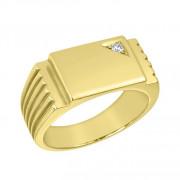 Δαχτυλίδι Ανδρικό με Ζιργκόν Χρυσός Κ14 - 92044