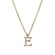 Μενταγιόν Μονόγραμμα E με Ζιργκόν Χρυσός Κ9 - 10014YE