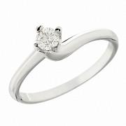 Δαχτυλίδι Μονόπετορ με Διαμάντι Λευκόχρυσος Κ18 - 06339.8R