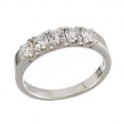 Δαχτυλίδι Μισόβερο με Διαμάντια Λευκόχρυσος Κ18 - 070015R
