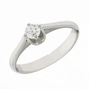 Δαχτυλίδι Μονόπετρο με Διαμάντι Λευκόχρυσος Κ18 - 07015