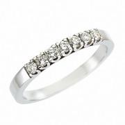 Δαχτυλίδι Μισόβερο με Διαμάντια Λευκόχρυσος Κ18 - 070447R