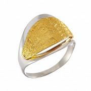 Δαχτυλίδι Δίχρωμο Κ14 - 07381