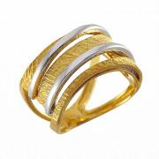 Δαχτυλίδι Δίχρωμο Κ14 - 07384