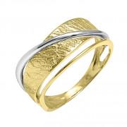 Δαχτυλίδι Δίχρωμο Κ14 - 07390
