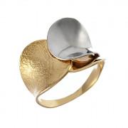 Δαχτυλίδι Δίχρωμο Κ14 - 08317