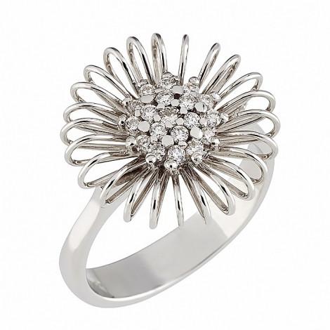 Δαχτυλίδι με Διαμάντια Λευκόχρυσος Κ18 - 07257