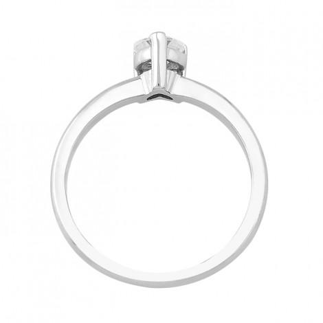 Δαχτυλίδι Μονόπετρο με Διαμάντι Καρδιά Λευκόχρυσος Κ18 - 16003