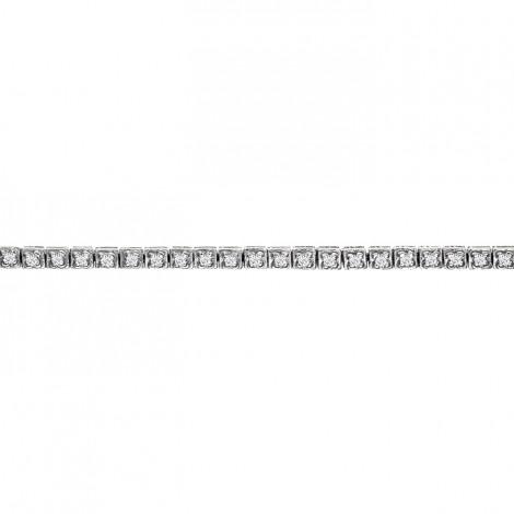 Βραχιόλι με Διαμάντια Λευκόχρυσος Κ18 - 0367B