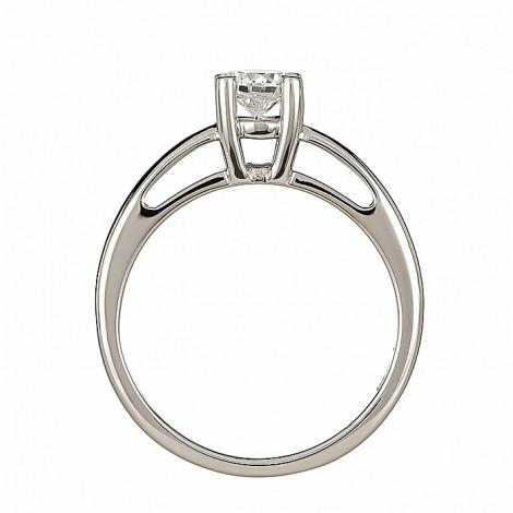 Δαχτυλίδι Μονόπετρο με Διαμάντι Λευκόχρυσος Κ18 - 06442