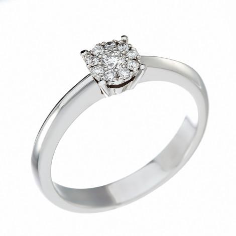 Δαχτυλίδι με Διαμάντια Λευκόχρυσος Κ18 - 10068