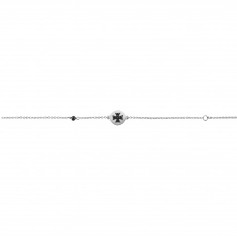 Βραχιόλι με Μαύρα Ζιργκόν Λευκόχρυσος Κ9 - 10450