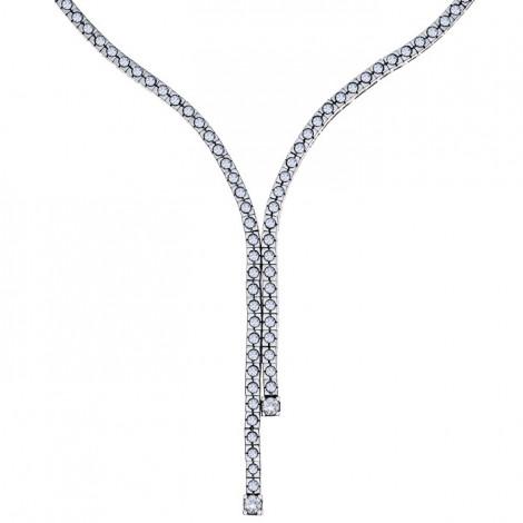 Κολιέ με Διαμάντια Λευκόχρυσος Κ18 - 40050
