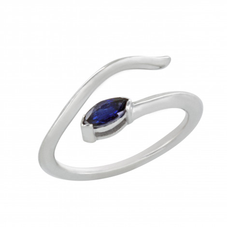Δαχτυλίδι Chevalier με Ορυκτή Πέτρα Λευκόχρυσος  Κ14 - 16013WSA