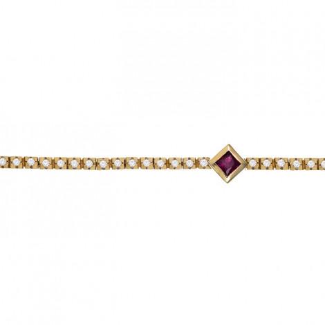 Βραχιόλι με Διαμάντια και Ρουμπίνι Χρυσός Κ18 - 20112RU