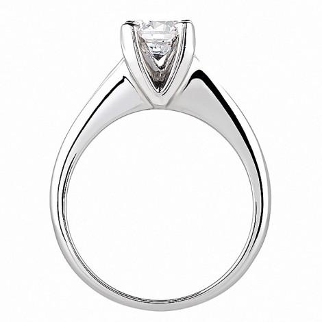Δαχτυλίδι Μονόπετρο με Ζιργκόν Λευκόχρυσος Κ14 - 92054
