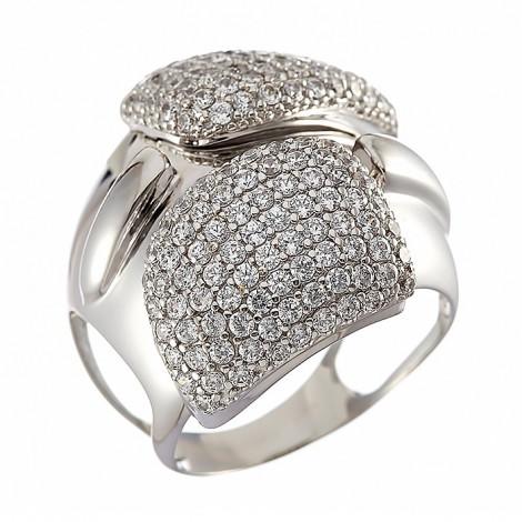 Δαχτυλίδι με Ζιργκόν Λευκόχρυσος Κ14 - 10092