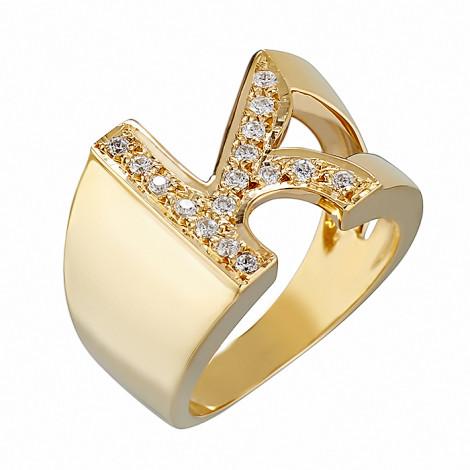 Δαχτυλίδι Chevalier K με Ζιργκόν Χρυσός Κ14-06552KY