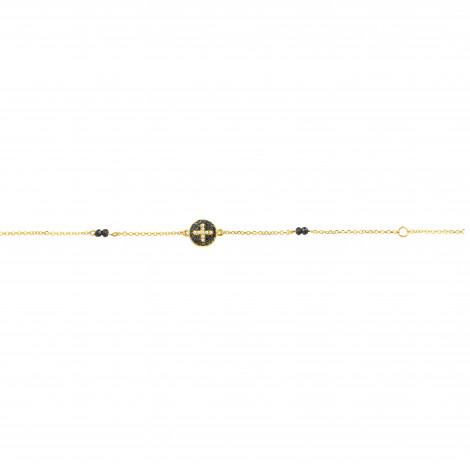 Βραχιόλι με Μαύρα Ζιργκόν Χρυσός Κ9 - 10222