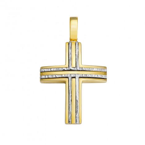 Σταυρός Δίχρωμος Κ14 - 13053SA