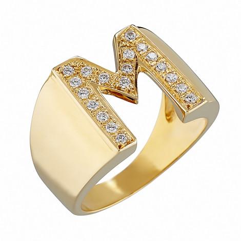 Δαχτυλίδι Chevalier M με Ζιργκόν Χρυσός Κ14-06552MY