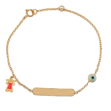 Παιδική Ταυτότητα Κοριτσάκι και Ματάκι Χρυσός Κ9 - 0T007Y