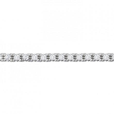 Βραχιόλι με Διαμάντια Λευκόχρυσος Κ18 - 06500