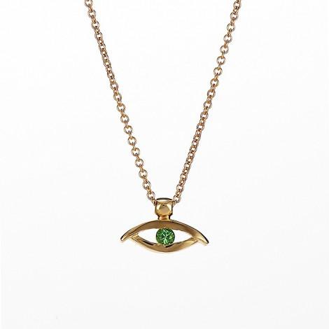 Μενταγιόν με Ορυκτή Πέτρα Χρυσός Κ18 - 09015Y