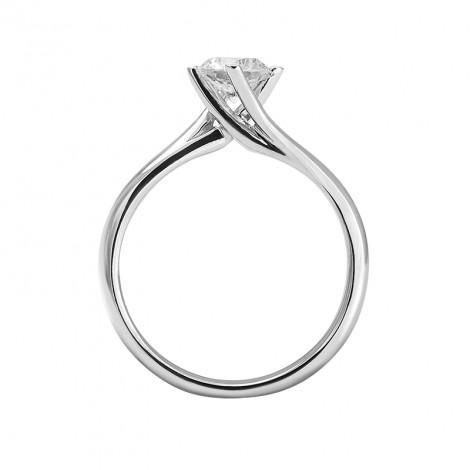 Δαχτυλίδι Μονόπετρο με Διαμάντι Λευκόχρυσος Κ18 - 13019.9R
