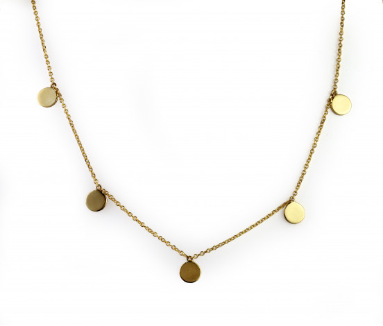 Κολιέ με Φλουριά Χρυσός Κ9 - 16067