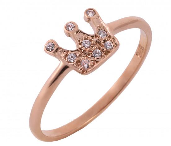 Δαχτυλίδι Κολρωνα με Ζιργκόν Ροζ Χρυσός Κ9 - 16055
